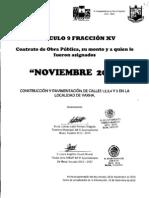XV ContratosObraPublica