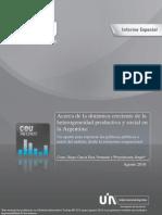 Acerca de La Dinamica Creciente de La Heterogeneidad Productiva y Social en La Argentina