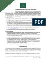 2014 Pattonville Jr. Pirates Code of Conduct Parent