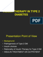 Insulin in Type 2 DM