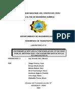 DETERMINACIÓN DE LA VISCOSIDAD DE UN FLUIDO POR EL MÉTODO DEL VISCOSIMETRO ROTACIONAL DE BROOKFIELD