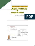Comportamento das estruturas em situação de incêndio - Prof. Valdir Pignatta e Silva