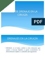 TIPOS DE DRENAJE EN LA CIRUGÍA