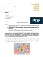 Milestone Mining Agreement 04.06.13