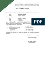 Surat Ket. Nilai KP Proyek
