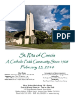 St. Rita Parish Bulletin 2/23/2014