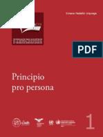 Ppio Pro Persona