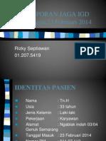 Laporan Jaga Rizky Jumat 21 Februari 2014