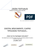 present. 1 tipologías textules