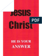 Jesus Christ is the Answer -English