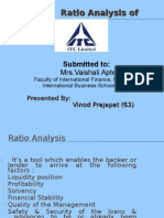 Ratio-Analysis of ITC