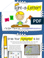 Highlight a Letter Letter Identification