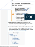 Foreign Market Entry Modes - Wikipedia, The Free Encyclopedia