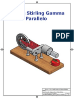 Motore Stirling Gamma Parellelo