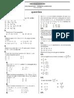 lista de exercícios números complexos