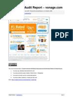 Exemplary Audit Report