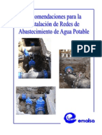 12 Recomendaciones Instalaciones Abastecimiento Agua Potable