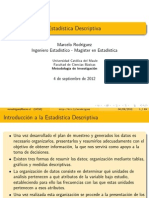 2 - Estadística Descriptiva (Ciencias de la Salud - 2012)