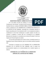 CONTENIDO DE LA LEY ORGÁNICA DE LA JURISDICCIÓN