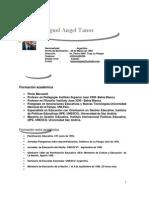 Curriculum Vitae Profesor Miguel Angel Tanos