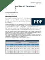 Item 9 - Jan PT Patronage Monthly Report FINAL