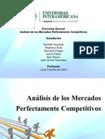 Análisis de los Mercados Perfectamente Competitivos