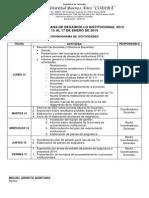 Cronograma Primera Semana de Desarrollo Institucional (1)