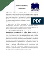 COMUNICADO Hechos Solidaridad Gremial-1