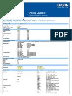 Epson LQ 300+ Datasheet