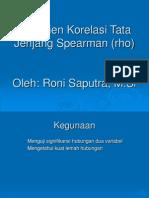 18. Koefisien Korelasi Tata Jenjang Spearman Rho