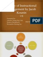 Theory of Instructional Management by Jacob Kounin
