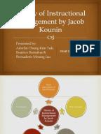 jacob kounin essay The relationship between effective classroom  the relationship between effective classroom management  jacob kounin and his.