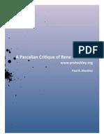 A Pascalian Critique of Rene Descartes