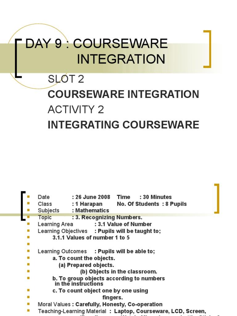 Day 9: Courseware Integration: Slot 2 Activity 2