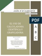 El uso de calculadora científica y calculadora