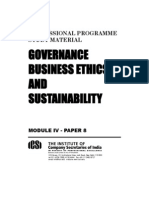 Governance, Business Ethics and Sustainability