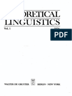 Published by Mouton Gruyter-Theoretical Linguistics. 1-Mouton Gruyter (1974)