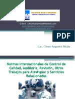 Información General sobre Normas Internacionales de Auditoria
