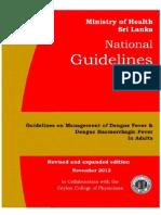 National Guidelines on Management of Dengue Fever & Dengue Haemorrhagic Fever In Adults - Sri Lanka