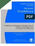 National Guidelines on Management of Dengue Fever & Dengue Haemorrhagic  Fever  In Children and Adolescents - Sri Lanka