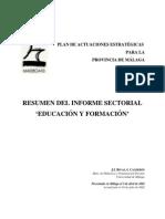 RIVAS, J.I. & CALDERÓN, I. (2002). Informe Sectorial de Educación y Formación. Plan Estratégico de la Provincia de Málaga (MADECA)