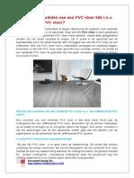 Wat Zijn de Voordelen Van Een Click Pvc Vloer Tov Een Dryback Plak Pvc Vloer