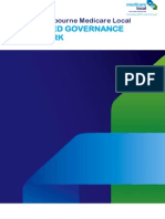 Integrated Governance Framework - North Melbourne Medical Local