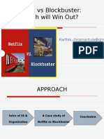 Case Study Anaysis on Netflix vs Blockbuster