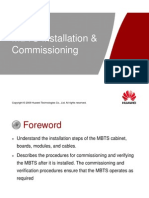 OMB211130 MBTS GSM V100R003 Installation and Commissioning ISSUE 1.00