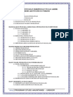 Format Penulisan Skripsi Dan Tugas Akhir Prodi Akuntansi - Unikom