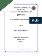 Formato de guión literario y tecnico