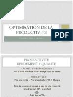 OPTIMISATION DE LA PRODUCTIVITE Présentation simplifiée