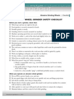 Abrasive Grinding Wheels Checklist