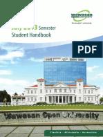 WOU Student Handbook 2013